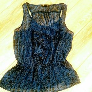 Tops - Black and blue Sleevless blouse